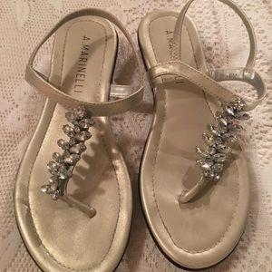 Silver rhinestone A Marinelli sandals